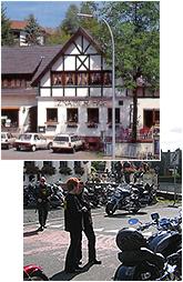 Bilder Haus und Biker